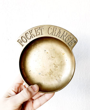 Vintage Brass Catch All Dish