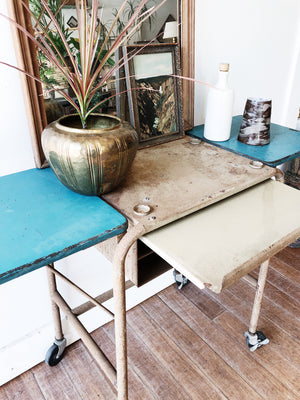 Vintage Industrial Typewriter Table Bar