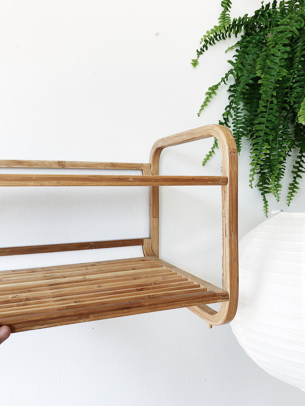Bamboo Two Tiered Shelf