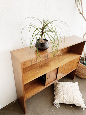 Vintage Wood Console Shelf / Bar
