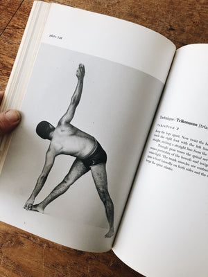 Vintage 1960s Illustrated Yoga Book