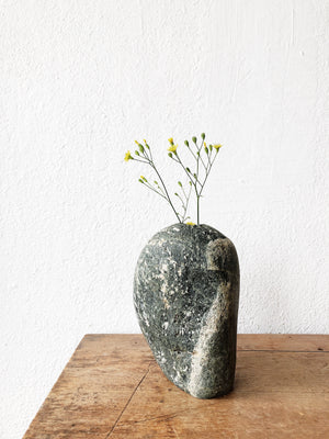 Handmade River Rock Vase