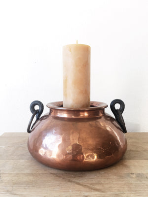 Vintage Copper Candle Holder