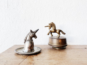 Vintage Musical Brass Unicorn