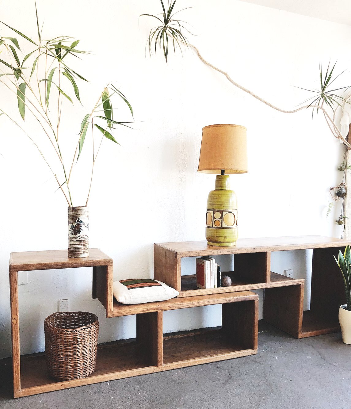 Vintage Oak Modular Shelf