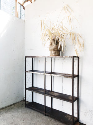 Vintage Industrial Metal Shelf