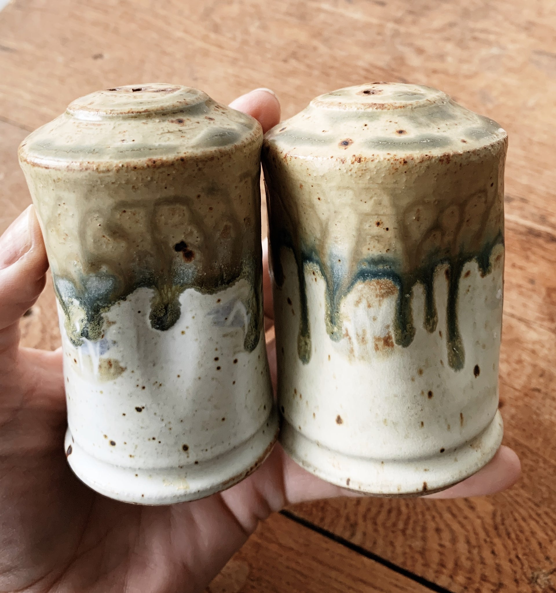 Handmade Stoneware Salt and Pepper Shakers
