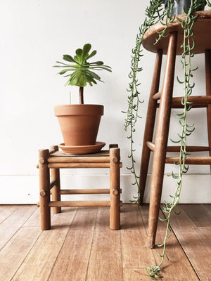 Wood and Bamboo Stool