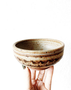 Vintage Handmade Pottery Bowls