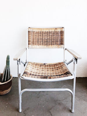 Vintage Woven Folding Chair