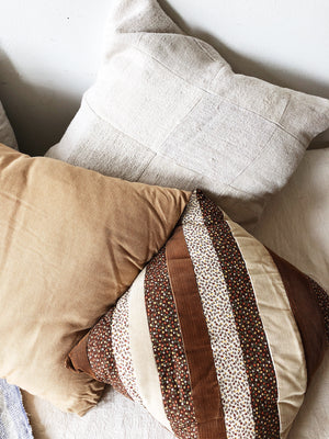 Handmade Patchwork Homespun Cotton Pillow