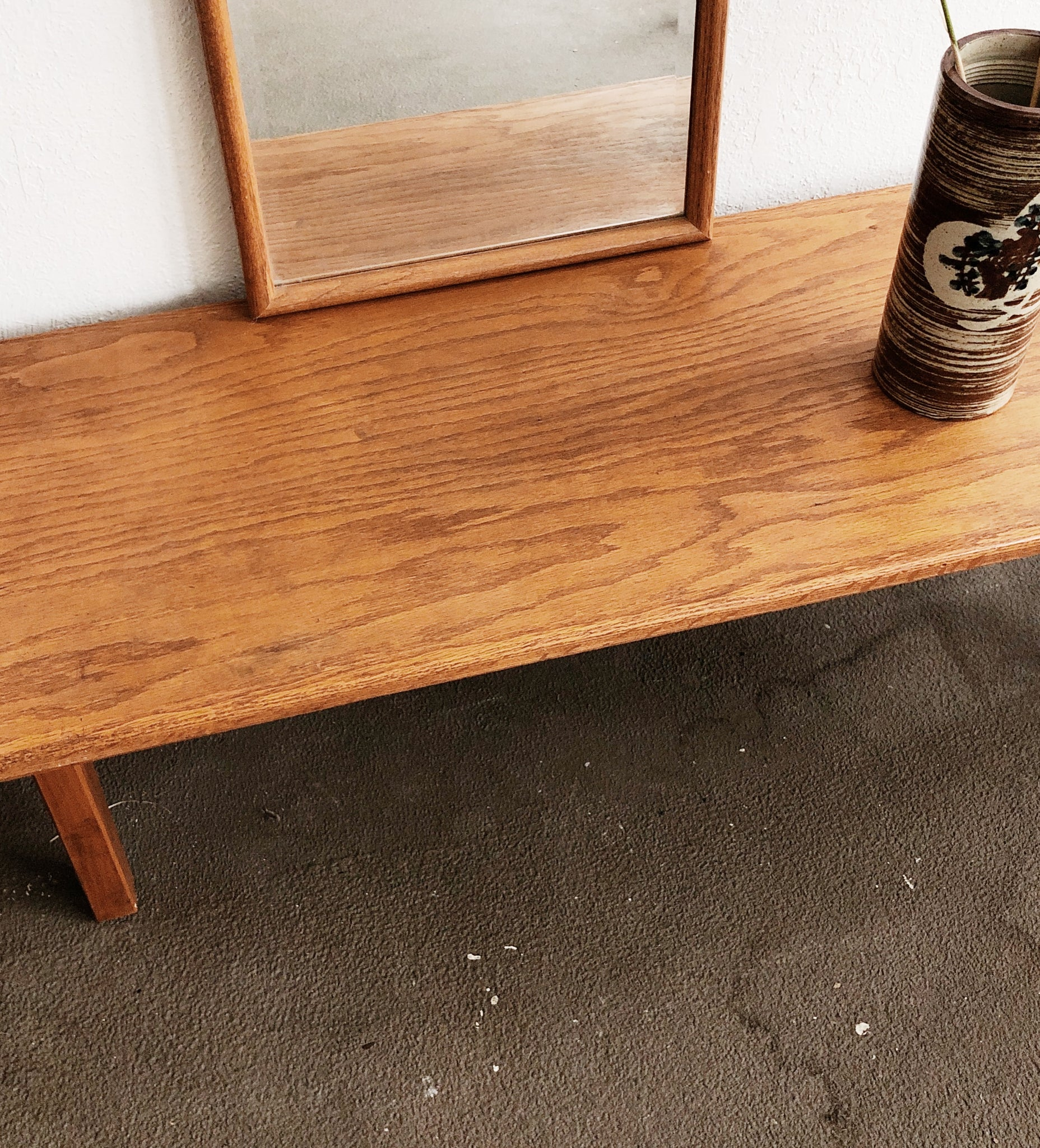 Vintage Oak Bench or Coffee Table