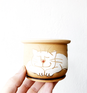 Tiny Handpainted Pot