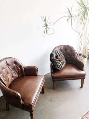 Vintage Leatherette Club Chair