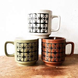 Trio of 1970's Ceramic Mugs
