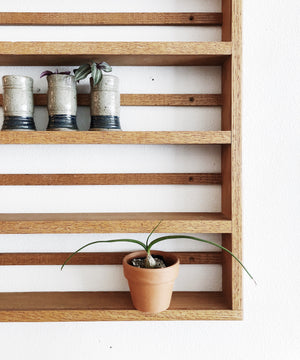 Vintage Wood Display Shelf