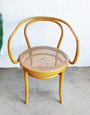 Vintage Thonet Style Bentwood Caned Chair