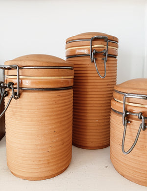 Terra Cotta Canisters