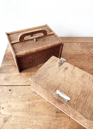 Vintage Wood Storage / Caddy Box