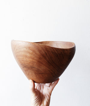 Vintage Teak Bowl -as is