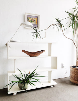 Vintage Mid Century Room Divider Shelf