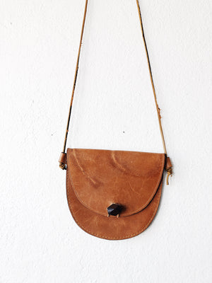 Vintage Leather Cross Body Pouch