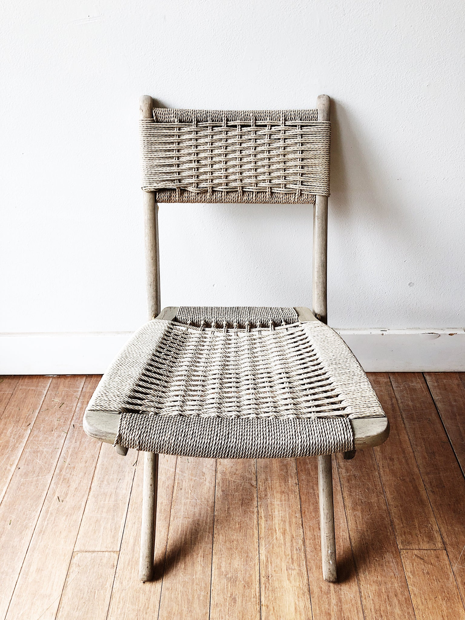 Vintage Folding Rope Chair