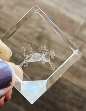 Magical Vintage Unicorn Crystal