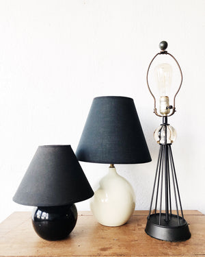 Black Ceramic Ball Lamp