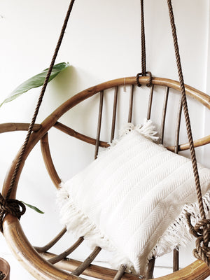 Vintage Bamboo Hanging Egg Chair