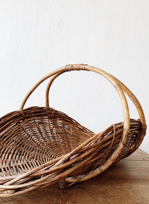 Large Vintage Gathering Basket