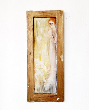 Vintage Ghostly Panel Painting