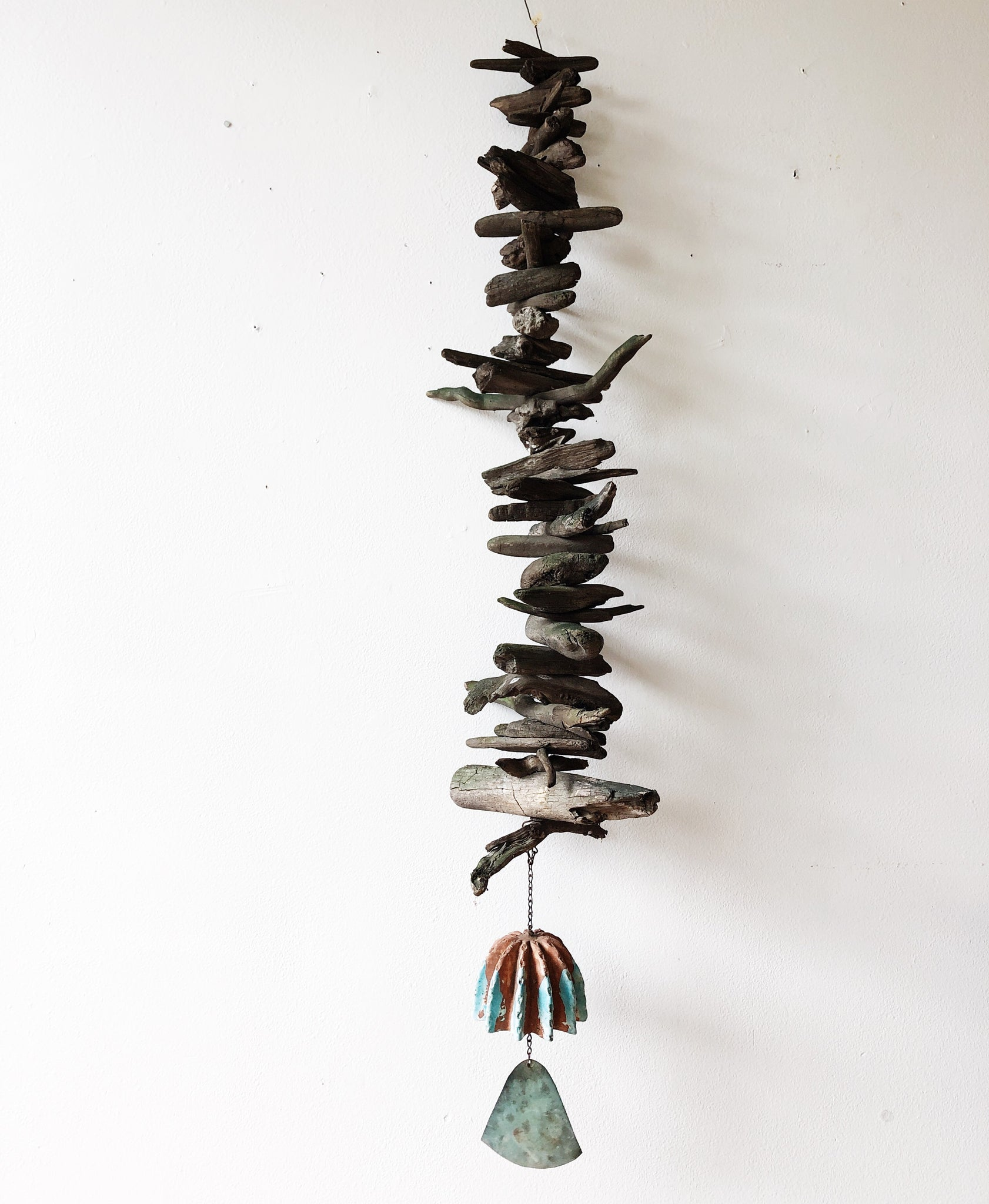 Giant Driftwood and Ceramic Wind Chime