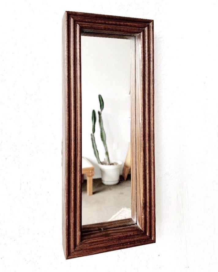 RESERVED Clara  Petite Oblong Wood Mirror