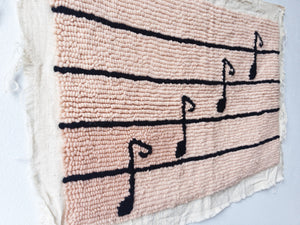 Music Notes Embroidered Art