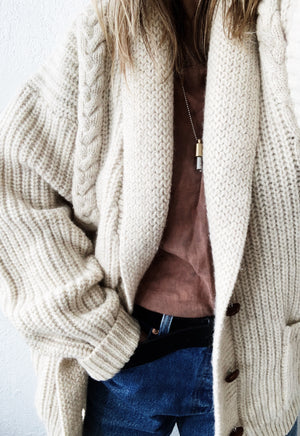 Vintage Oversized Wool Cardigan