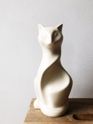 Vintage Laurentienne Modernist Cat Sculpture