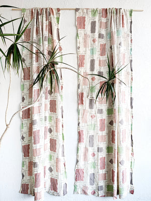 Mid Century Curtain Panels