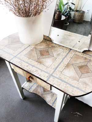 Vintage 1940s Lino Topped Table