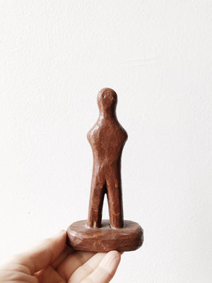 Small Vintage Wooden Figure