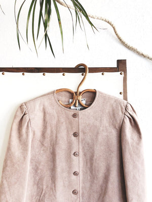 Vintage Bill Blass Ultra Suede Cropped Jacket