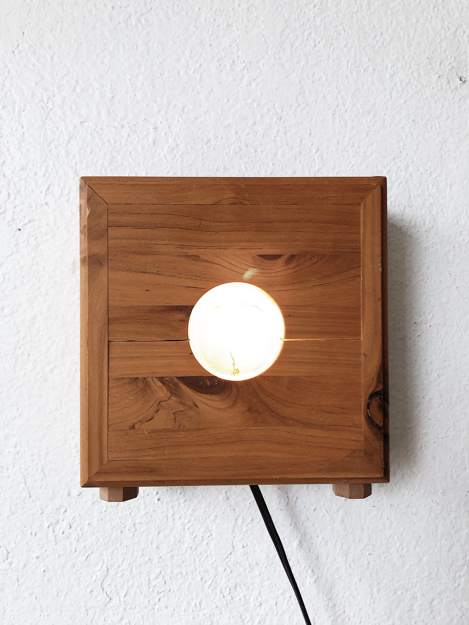 Vintage Handmade Modern Box Light