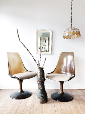Vintage Lucite Swivel Chairs