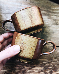 Iron Mountain Stoneware Mug Pair