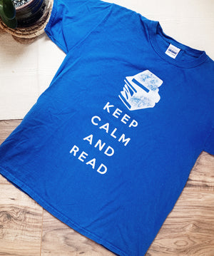 Keep Calm and Read Vintage TShirt