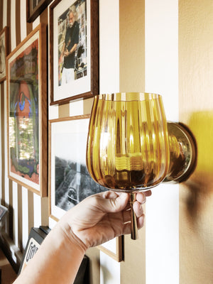 Vintage Amber Light Sconce