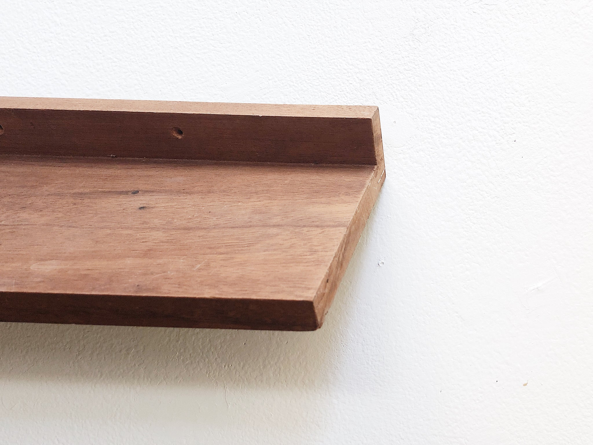 Minimalist Wood Display Shelf