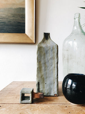 Large Green Glass Demijohn