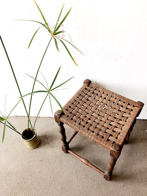 Antique Rope Stool