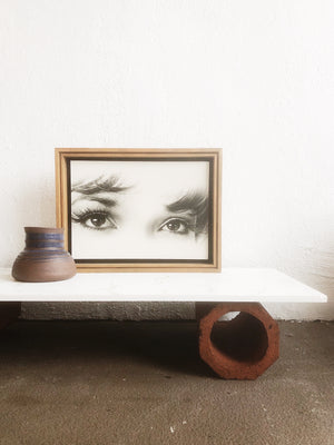 Vintage Pressed Litho Eyes Print